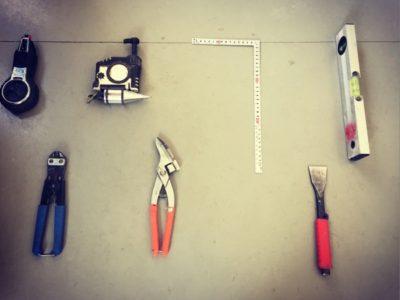 現場紹介 部室新築 |工具のなまえ