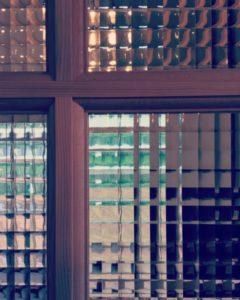 木製ドア デザインガラス