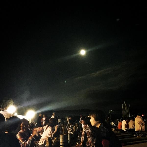 広瀬川に仲秋の名月