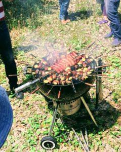BBQ 串焼き サークルレイアウト